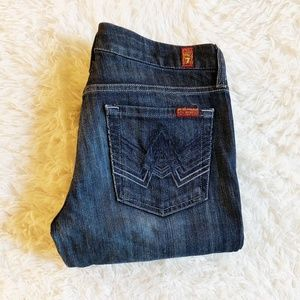 7 For All Mankind A Pocket Dark Bootcut Jeans SZ28
